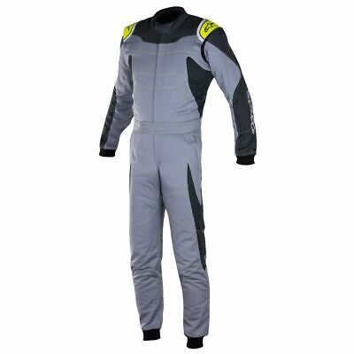 Alpinestars GP FIA Approved Race Suit Grey / Anthracite / Fluro Yellow Size 44