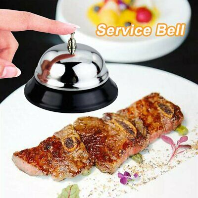 Silver Hotel Service Bell Reception Desk Counter Ring Functioning Traditional WR
