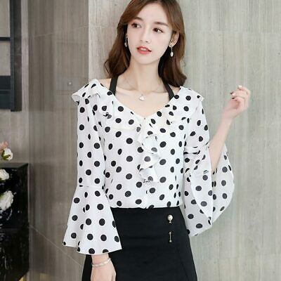 Ladies Shirt Chiffon T-Shirt Fashion Long Sleeve Loose Summer Top Women Blouse