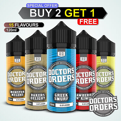 E LIQUID vape juice | Doctors Orders 120ml e liquid  | 100ml 0mg 3mg 6mg 70/30