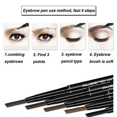 2 in1 Double-end Eyebrow Pencil Waterproof Smudge-proof Long Lasting Eyebrow Pen