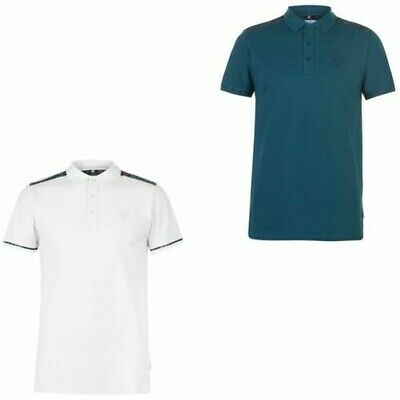 Soviet Shoulder Panel Polo Shirt Mens Collared Tee Top White X-Small