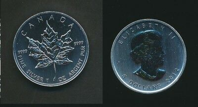 Canada: 2012 $5 1oz 9999 Silver - Maple Leaf Coin UNC