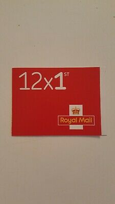 1 book of 12 x 1st Class NEW Royal Mail First Class RRP £8.40