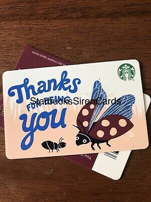 Fall Starbucks 2019 Gift Card 'Thanks For Being You' Ladybug Recycled 6169  New