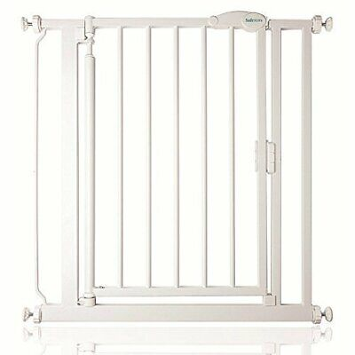 Safetots Pressure Fit Self Closing Gate, 68.5-75 cm, White Narrow