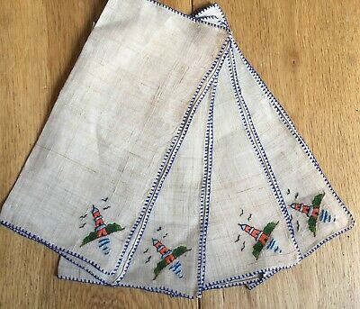 4 X Old Vintage Embroideted Table Napkins