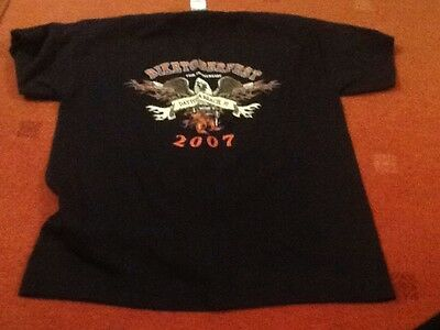 2007 Daytona Beach Biketoberfest Black Tee Shirt