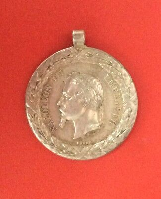 France -  Napoléon III -  Rare médaille de l'Expedition du Mexique 1862-63