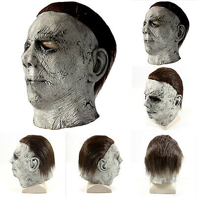 Halloween Costume Adult Michael Myers Full Face Mask Fancy Dress Cosplay Prop