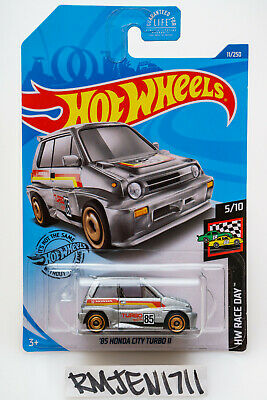 Hot Wheels 2019 silver '85 Honda City Turbo II HW Race Day Q case *READ DESC*
