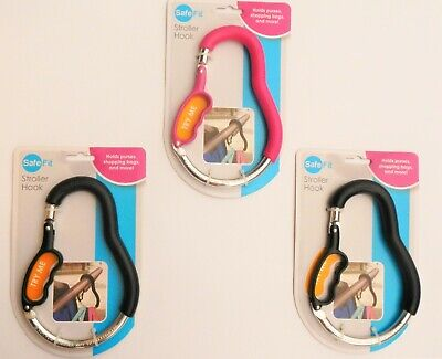 Safe Fit Stroller Hook Holds up to 8 LBS QTY 3