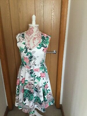 Papaya Weekend Floral 1950's Style Dress Brand New With Tags RRP £25