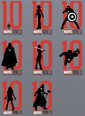 Topps MARVEL COLLECT DIGITAL CARD TEN 10 YEARS SILHOUETTES DIE-CUT 8 CARD SET