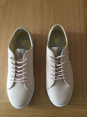 Men's Lyle and Scott Shoes Trainers Teviot Twill Dusty Pink UK size 9 Brand New