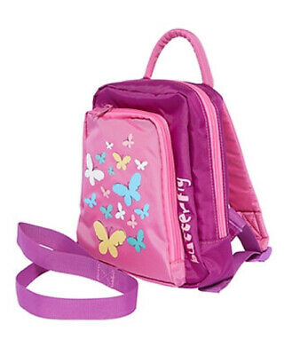 Mothercare Butterfly Pink Girls Toddler Backpack Harness Reins New