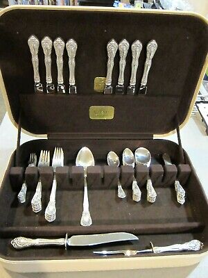 CHATEAU ROSE by ALVIN Sterling Silver Service for 8 - 59 PC. SET -ORIGINAL BOX