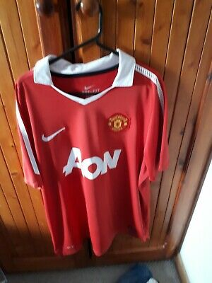 Genuine Manchester United Football Home Shirt Adult Large 2010/2011 Man Utd