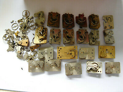 Vintage Carriage Clock And Other Platform Balances. Smiths Military Etc.