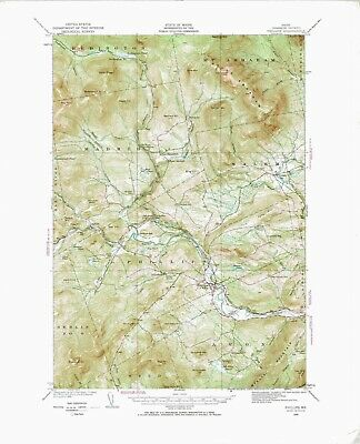 Phillips, Maine, Vintage USGS Topographic Map, 1929