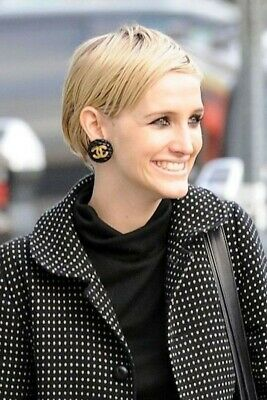 Chanel Vintage XL Gold and Quilted Design Clip On CC Logo Earrings