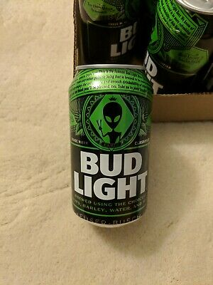 One Bud Light Earth Can Alien Storm Area 51(Bottom emptied)