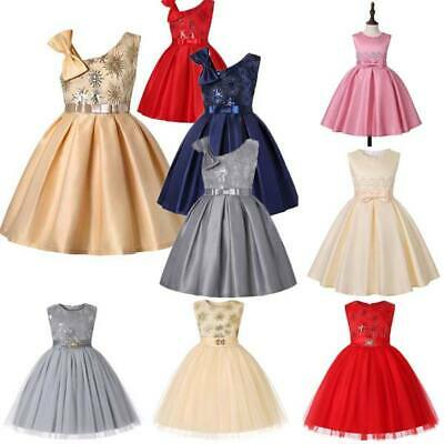 Dresses princess tutu dress flower girl kid wedding formal party bridesmaid baby