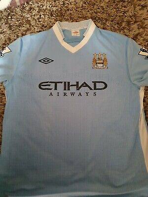 Manchester City 2011/2012 Home Football Shirt Umbro Adults Size Large 44""