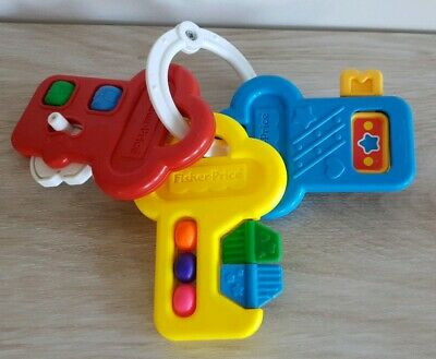 Vintage Fisher Price Activity Keys Key Baby Toy Rattle Spinner Teether 1994