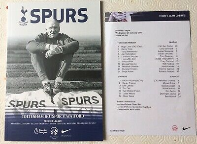Tottenham Hotspur ( Spurs ) v Watford Programme 30th January 2019