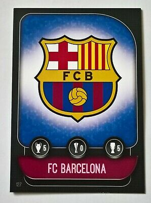 Topps Match Attax 2019/20,  Base Card,   F C Barcelona Badge / Lionel Messi