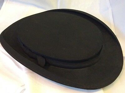 Opera Hat - Top Hat  Victorian Antique  - Great for the Racers (486J)