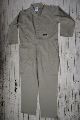 """WORK FORCE Premium Workwear KHAKI Full Cover OVERALLS Cotton Size 107S-42"""" NEW"""