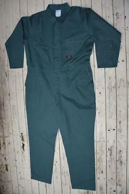 """WORK FORCE Premium Workwear GREEN Full Cover OVERALLS Cotton Size 117S-46"""" NEW"""