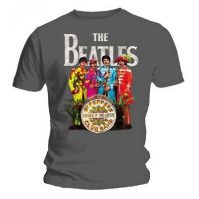 Official T Shirt THE BEATLES Grey Sergeant Sgt Pepper SIZE S free postage!