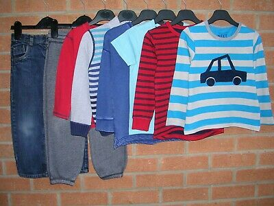 NEXT TU H&M etc Boys Bundle Jeans Joggers Long Sleeve Tops Jumpers Age 3-4 104cm