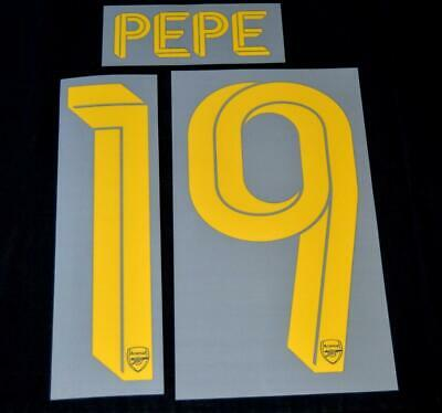 Arsenal pepe 19 2019/20 Europa League/FA Cup football shirt Name set third