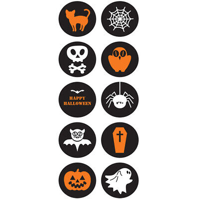 100x Gift Paper Labels Stickers Halloween Party Supplies Paper Labels StickerL_D