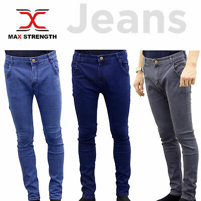 MaxStrength Mens & Boys Denim Jeans Heavy Work Casual Trousers Pants Size 24-36