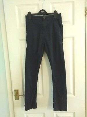 Boys Navy Blue Next Skinny Twisted Leg Trousers Size 11 Years
