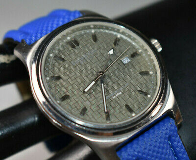 KENNETH COLE NEW YORK Blue Band Men's Dress Watch KC1161 Alarm NEW BATTERY!