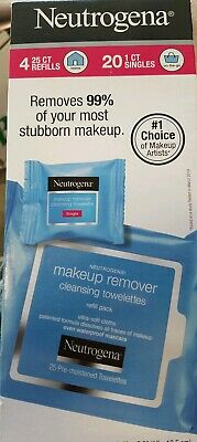 Neutrogena Makeup Remover Towelettes 4 Pack With 20 Singles