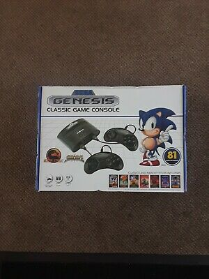 Brand New SEGA Classic Genesis  Video Game Console With 81 Classic Games