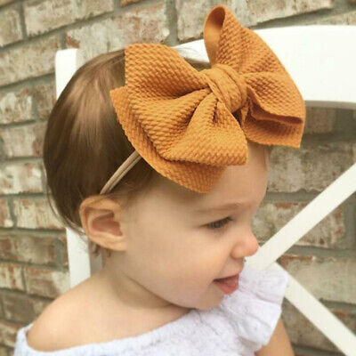 Kids Girls Baby Headband Toddler Turban Bow Knot Hair Band Accessories Lot