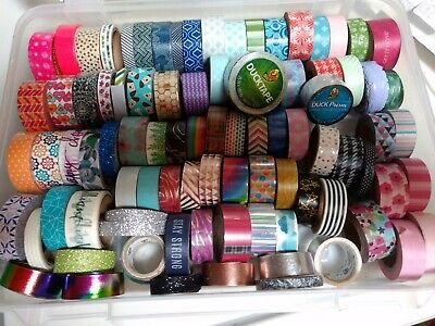 SCOTCH EXPRESSIONS WASHI TAPE lot of 90 Duck Tape huge lot,