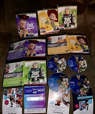 Toy Story Trilogy Blu-ray Discs +TS 3 4K Digital Copy Set Disney Lot Pixar 2 1
