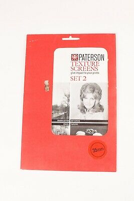 Paterson Texture Screens Set 2 In Original Packing. Excellent Condition
