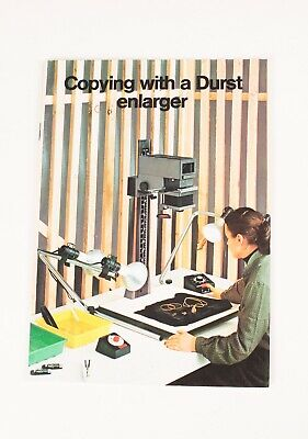 Copying With A Durst Enlarger.  Booklet From The 1970's.