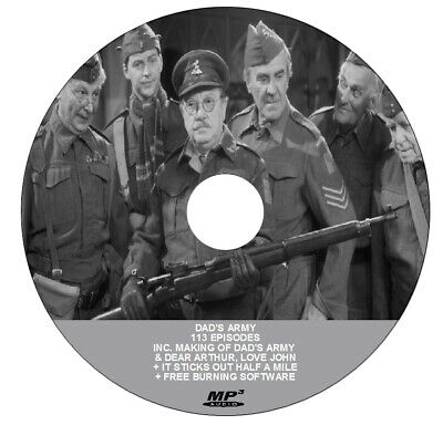 DADS ARMY + PARSELY SIDINGS + IT STICKS OUT HALF A MILE (1 mp3 DVD) + FREEBIES