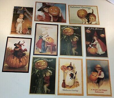 Vintage Halloween Postcard Reproductions Lot of 10